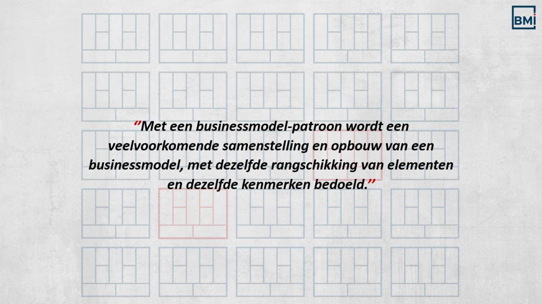Definitie Business model patroon
